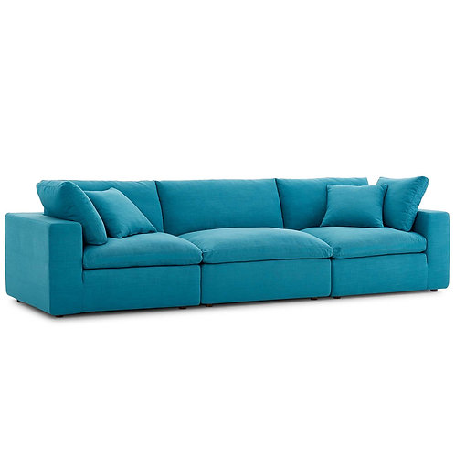 Commix Down Filled Overstuffed 3 Piece Sectional Sofa Set