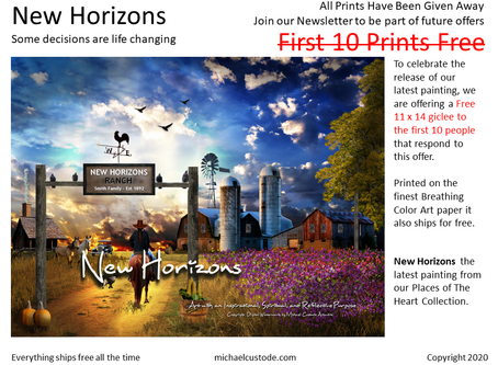 New Horizons - First 10 Prints Given Away Free