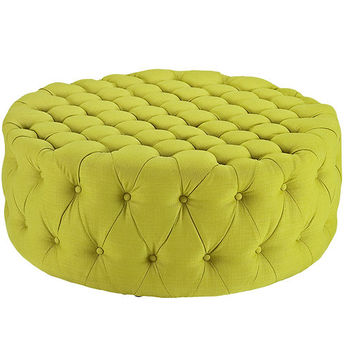 Amour Upholstered Fabric Ottoman