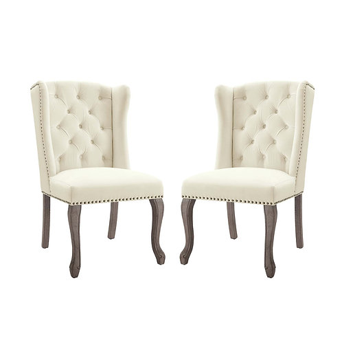 Apprise Side Chair Performance Velvet Set of 2