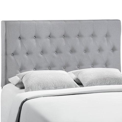 Clique Queen Upholstered Fabric Headboard
