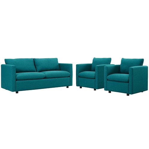 Activate 3 Piece Upholstered Fabric Set