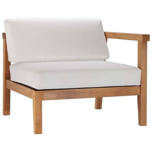 Bayport Outdoor Patio Teak Wood Right-Arm Chair