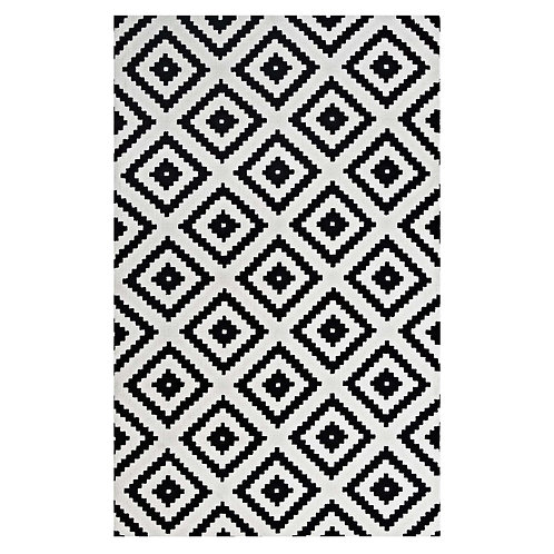 Alika Abstract Diamond Trellis 5x8 Area Rug
