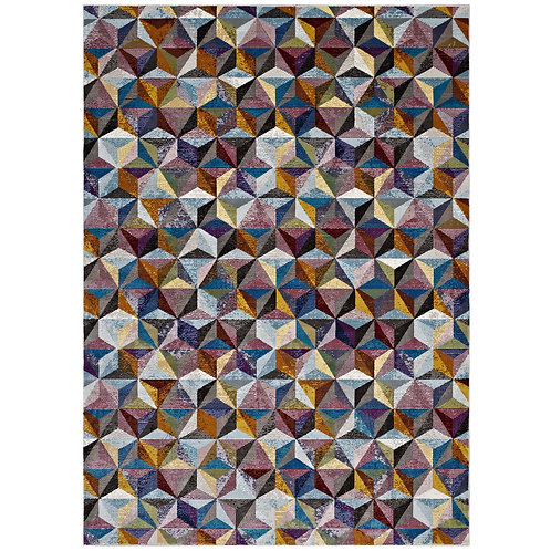 Arisa Geometric Hexagon Mosaic 8x10 Area Rug