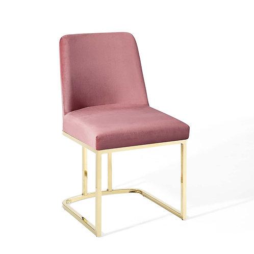 Amplify Sled Base Performance Velvet Dining Side Chair