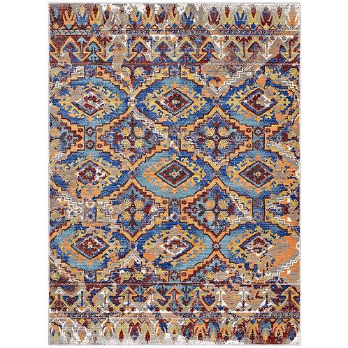 Centehua Distressed Southwestern Aztec 8x10 Area Rug