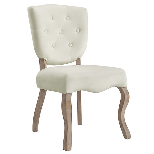 Array Vintage French Performance Velvet Dining Side Chair
