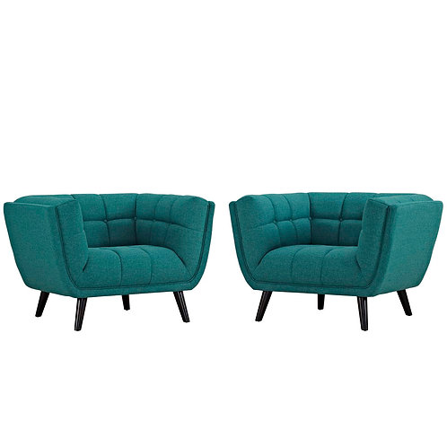 Bestow 2 Piece Upholstered Fabric Armchair Set