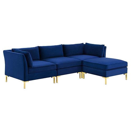 Ardent 4-Piece Performance Velvet Sectional Sofa