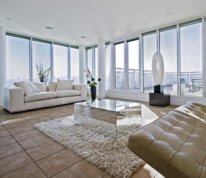 massive luxury living room with chunky w