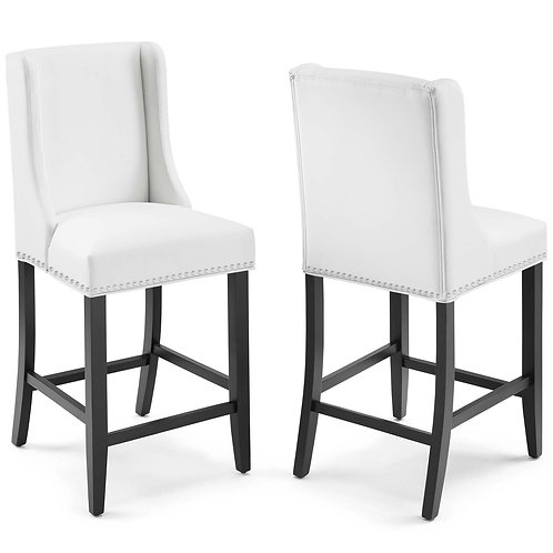 Baron Counter Stool Faux Leather Set of 2