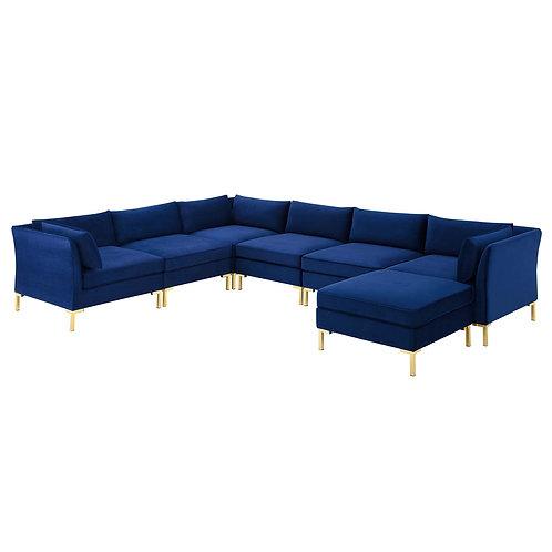 Ardent 7-Piece Performance Velvet Sectional Sofa