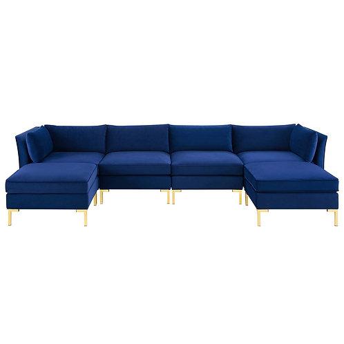 Ardent 6-Piece Performance Velvet Sectional Sofa