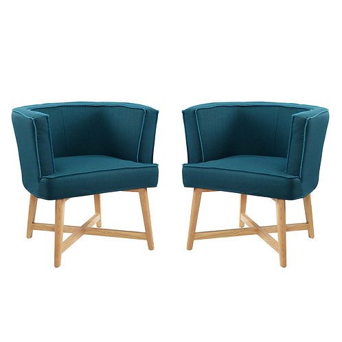 Anders Accent Chair Upholstered Fabric Set of 2