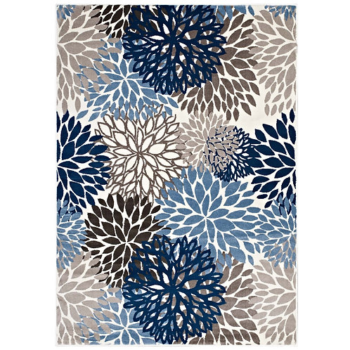 Calithea Vintage Classic Abstract Floral 8x10  Area Rug