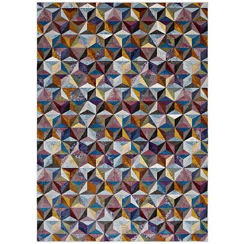 Arisa Geometric Hexagon Mosaic 5x8 Area Rug