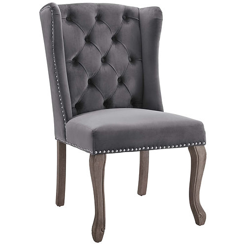 Apprise French Vintage Dining Performance Velvet Side Chair