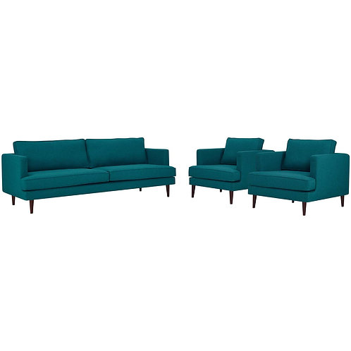 Agile 3 Piece Upholstered Fabric Set