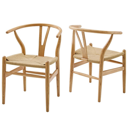 Amish Wood Dining Armchair Set of 2