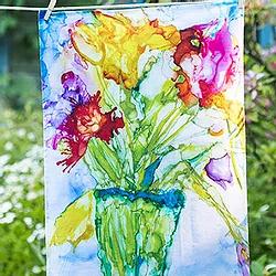Mosaic Bouquet Tea Towel