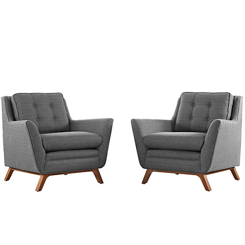 Beguile 2 Piece Upholstered Fabric Living Room Set