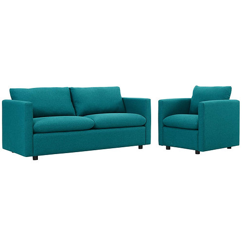 Activate Upholstered Fabric Sofa and Armchair Set