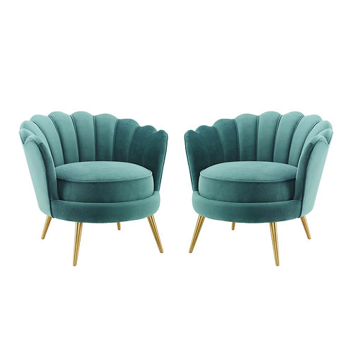 Admire Accent Armchair Performance Velvet Set of 2