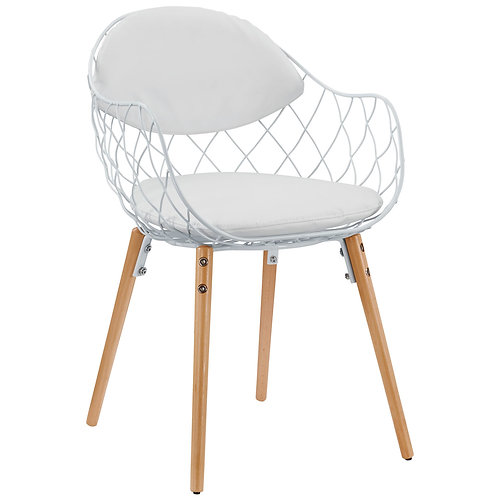 Basket Dining Metal Armchair