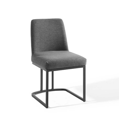 Amplify Sled Base Upholstered Fabric Dining Side Chair