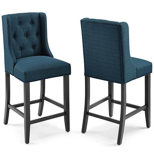 Baronet Counter Bar Stool Upholstered Fabric Set of 2