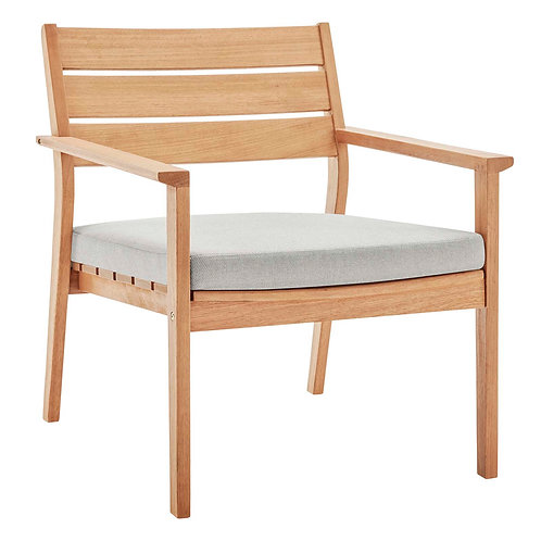 Breton Outdoor Patio Ash Wood Armchair