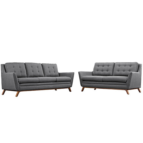 Beguile Living Room Set Upholstered Fabric Set of 2