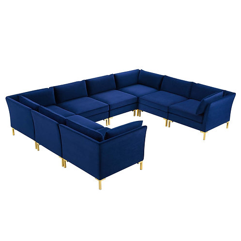 Ardent 8-Piece Performance Velvet Sectional Sofa
