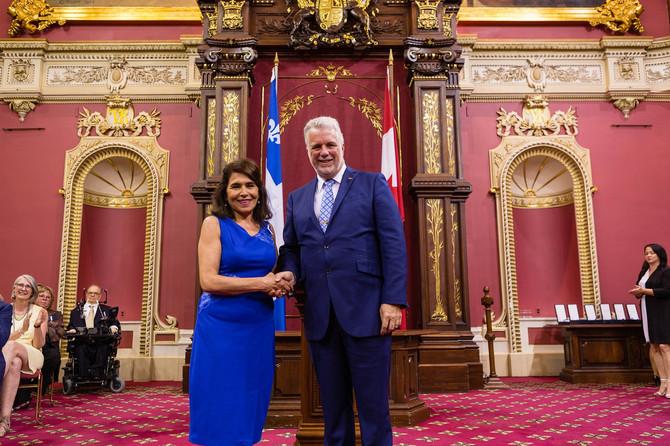 Mme Nahid Aboumansour nommée chevalière de l'Ordre national du Québec