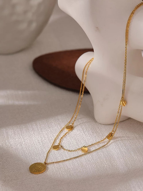 Delphie Layered Necklace - Gold