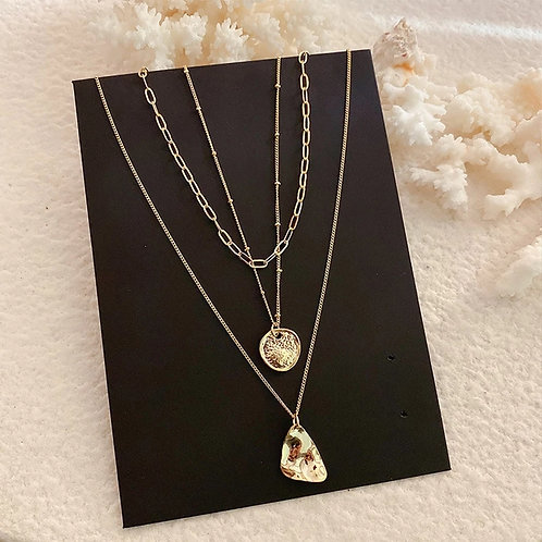 Joanna 3 Layer Gold Necklace