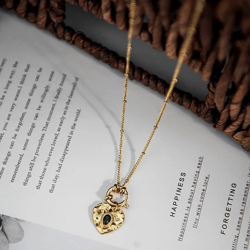 Penny Gold Heart Pendant Necklace