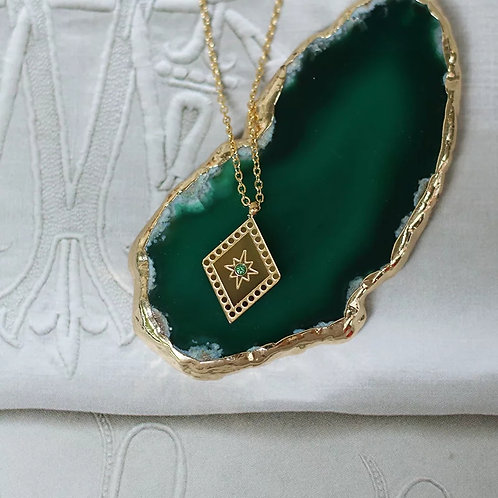 Deco Inspired Pendant Necklace