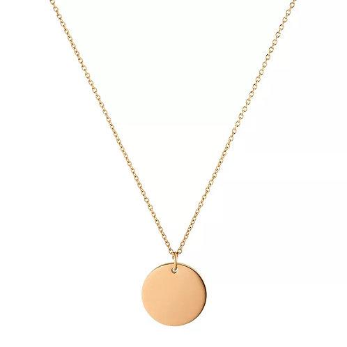 Full Moon Pendant - Rose gold