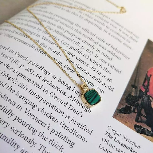 Floris Green Malachite Pendant Necklace