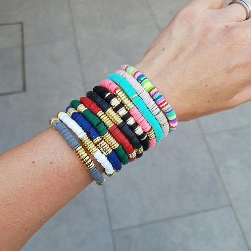 Ashram Stretch Beaded Bracelet - 11 colours