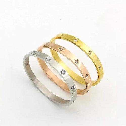 Large Cia Love Bracelet (Wide) - Gold, Silver or Rose Gold