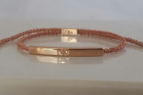MisG Braided Bracelet - Rose Gold options. stainless steel