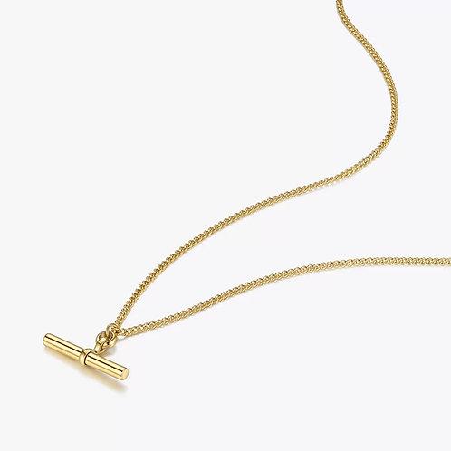 Tamara Gold T Bar Pendant Necklace