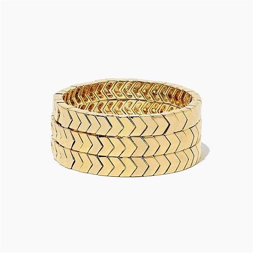 Chevron Stretch Gold Bracelet