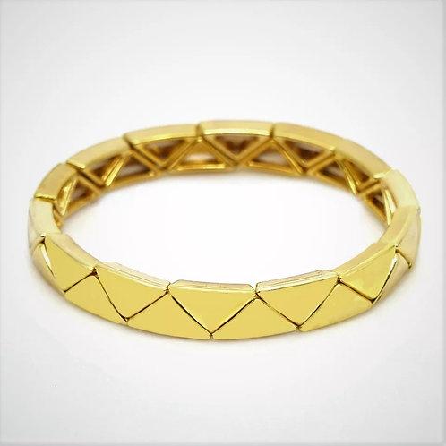 Gold Stretch Tile Bracelet