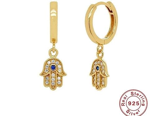Strength Huggie Hoop Earrings - Gold