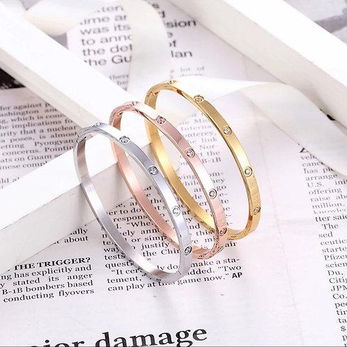 Cia Love Bracelet (slim) - Gold, Silver or Rose Gold