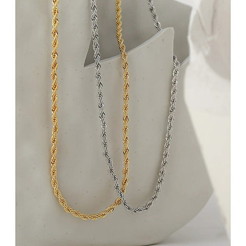Viola Twisted Necklace  - Gold or Silver